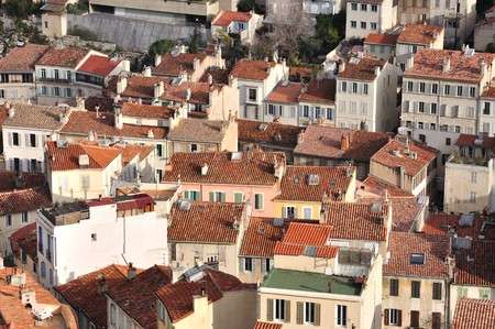 Just common houses which you can easily find in French second largest city - Marseille. photo
