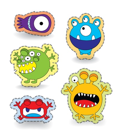 Cute Colorful Monster Collection Set, illustration Stock Illustration - 20825221