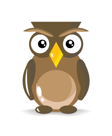 Cute and Simple Brown Owl, illustration Stock Illustration - 20825256