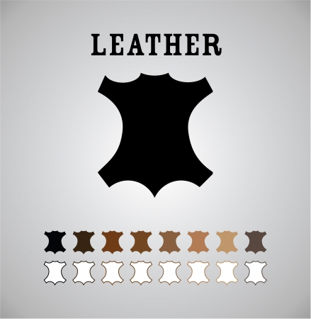 leather coat: Leather Mark in Different Colors and Outlines