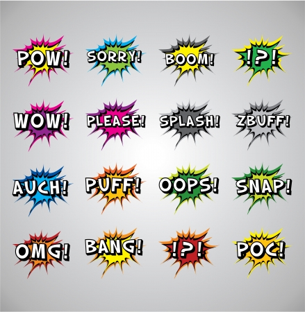 Comic book explosion buble - noises, vector illustration, tag space