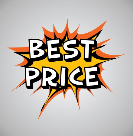 best book: Comic book explosion buble, vector illustration, best price Stock Photo