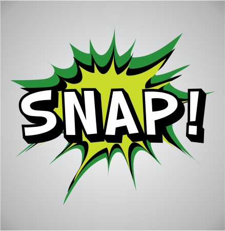 snap: Comic book explosion bubble, vector illustration, snap