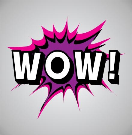 wow: C�mic burbuja explosi�n, ilustraci�n vectorial, wow