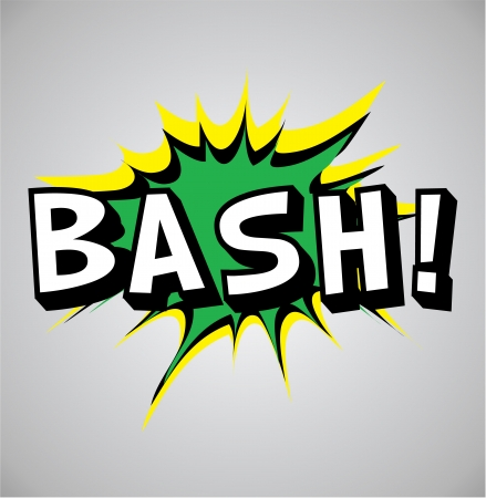 bash: Comic book explosion bubble, vector illustration, bash Stock Photo