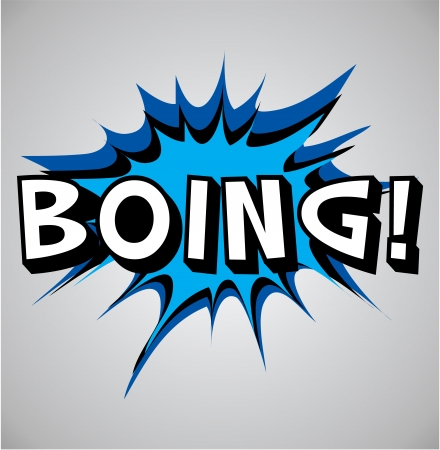 boing: Comic book explosion bubble, vector illustration, boing