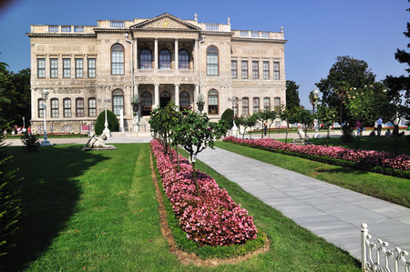 Dolmabahce Palace in Istanbul, Turkey, in old Ottoman style Editorial