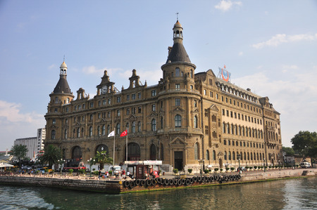 Haydarpasha train station Istanbul photographed from water Editorial