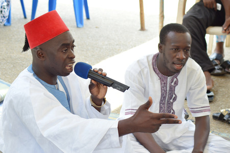 imam: Ivory coast , abidjan february 26, 2015, imam speaks of afrian tradition marriage to the future married. Editorial