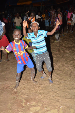 rejoicing: Rejoicing in the village.