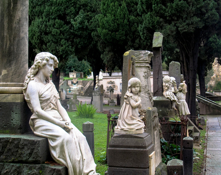The Monumental Cemetery of Bonaria is located in Cagliari, Sardinia. In use between 1829 and 1968, the cemetery originally occupied an area at the base of the hill of Bonaria, and over time expanded upwards. The main entrance is located in Piazza Cimitero