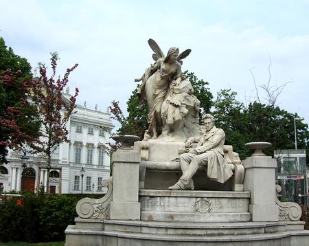 dramatist: Ferdinand Raimund monument in Vienna, Austria. Ferdinand Raimund was an Austrian actor and dramatist. The Raimund Theater in Vienna is named after him.
