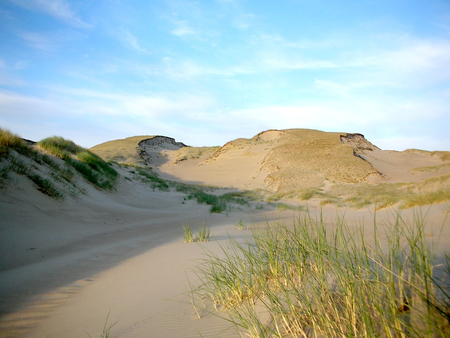 expanse: Grey dunes in the fall time. Curonian Spit, Lithuania. Stock Photo