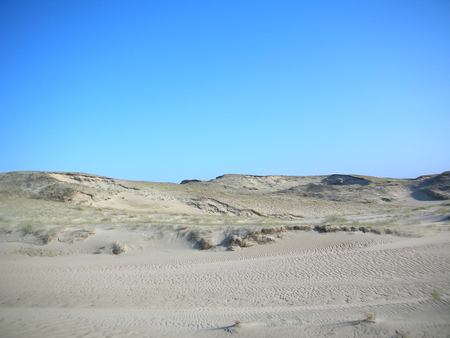 heathland: Grey dunes in the fall time. Curonian Spit, Lithuania. Stock Photo