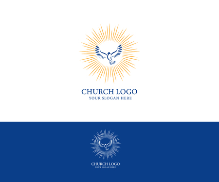 Church logo design illustration. Zdjęcie Seryjne - 88792304