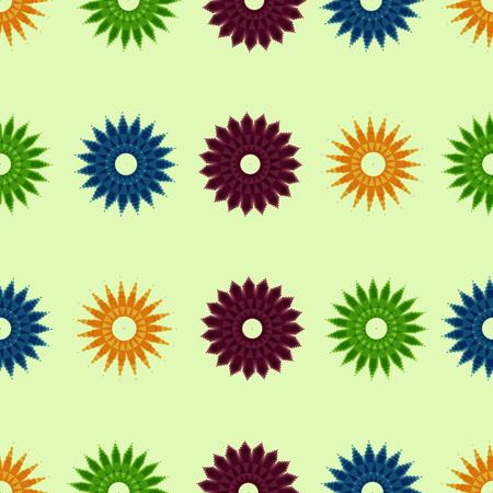 pixel ornament pattern brush, flower vector set Ilustração