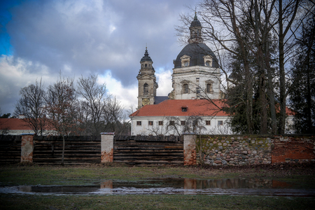 Pazaislis monastery and church is a large monastery complex in Kaunas, Lithuania