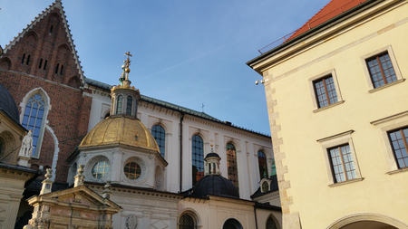 Domes of two Renaissance chapels on the side of the cathedral on