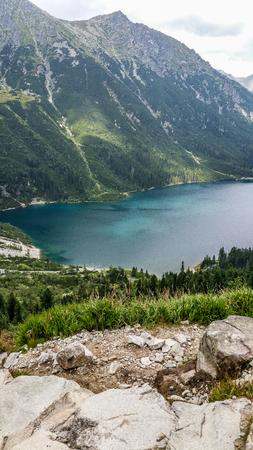 Mountain lake in 5 lakes valley in Tatra Mountains, Poland.