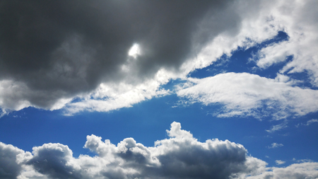 beautiful blue sky with clouds background. Sky with clouds weather nature cloud blue Imagens - 96312316