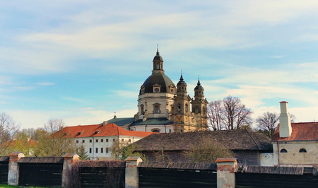 Pazaislis monastery and church Lithuanian: Pazaislio vienuolynas ir baznycia is a large monastery complex in Kaunas, Lithuania, and the example of Italian Baroque architecture. Imagens