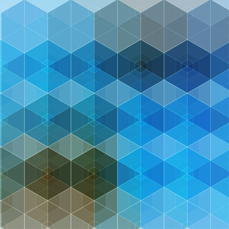 Vector abstract boxes background. Modern technology illustration with square mesh. Digital geometric abstraction with lines. Cube cell.