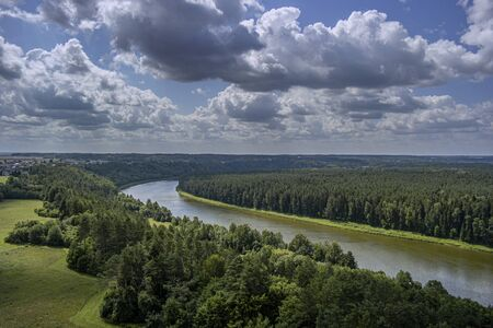 A beautiful view of the forest. Drone photography