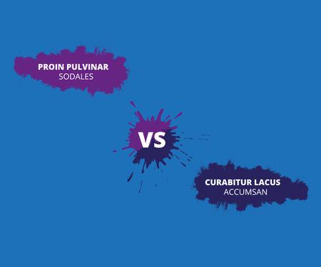 Versus letter background. Concept design confrontation, fight or contest background. Çizim
