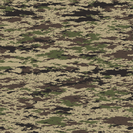 Seamless pattern. Abstract military or hunting camouflage background. Made from geometric rectangle shapes. Vector illustration. Çizim