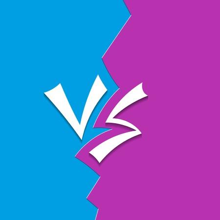 Concept design versus letters Illustration