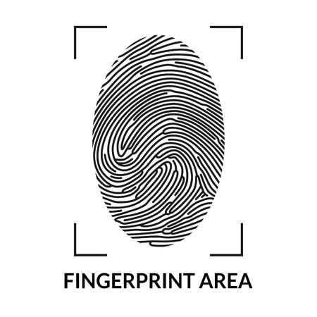 Fingerprint scan icon. Çizim