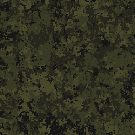 Abstract military or hunting camouflage background. Geometric square shapes. Olive, green color. Vector illustration.
