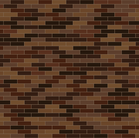 Decorative red and brown bricks  wallpaper. Seamless pattern.