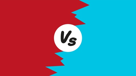 Versus letter background; Concept flat design fight, battle, confrontation or contest background Vector illustration. Illustration
