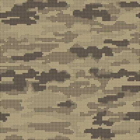 Abstrait militaire ou camouflage de chasse. Modèle sans couture. Camouflage de formes carrées géométriques. Camo. Illuctration de vecteur.