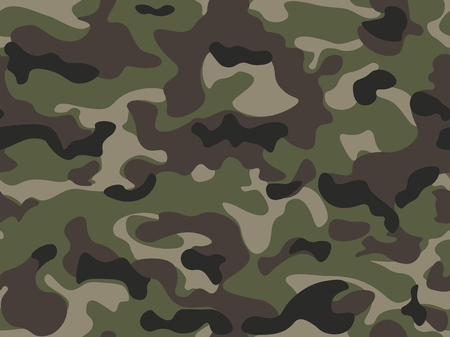 Abstract military or hunting camouflage background in brown, green color. Ilustração