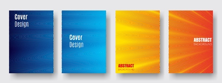 Covers with blue, yellow, red colors.