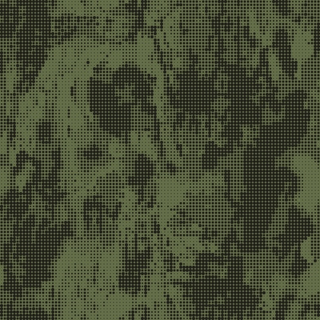 Abstract military or hunting camouflage background. Seamless pattern. Green dots shapes. Camo. Vector illustration.