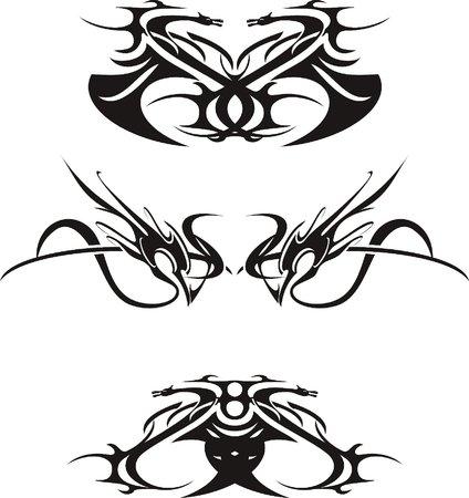 figuras abstractas: figuras abstractas, negras en el fondo blanco, vector