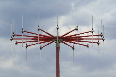 finder: Direction Finder Antenna with 16 dipole element array close-up