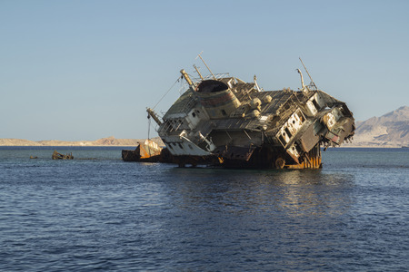 shipwreck on the reef near the island of Tyrant
