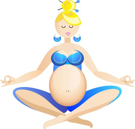 pregnancy yoga: Pregnant yoga