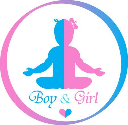 Logo Boy and Girl Ilustracja