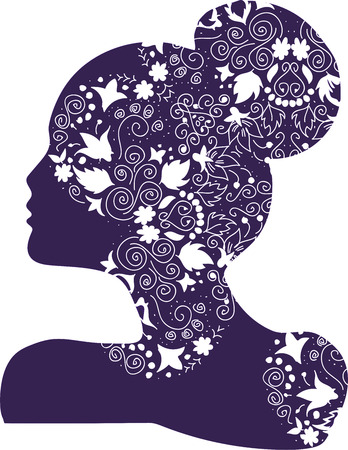Vrouw bruids of fashion logo