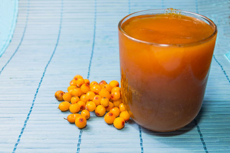 argousier: Jam made of sea-buckthorn. Natural sea buckthorn jam. Banque d'images
