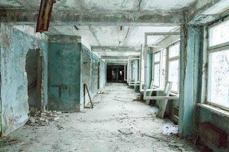 délivrance: école abandonnée dans Pripyat dans l'explosion à la stanitsiyi nucléaire de Tchernobyl.