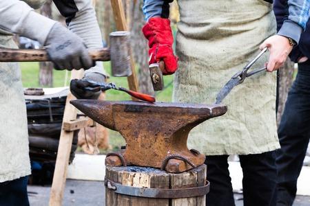steelmaker: Hardening of iron.