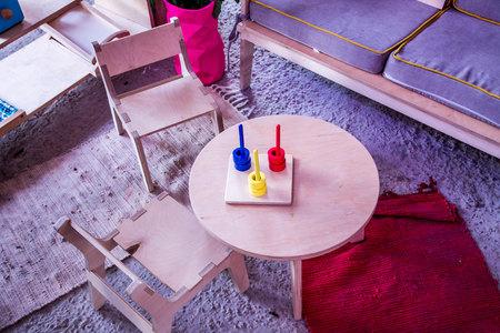 kidsroom: Children room. Game Room. Creative room. Restroom. Room for games. Stock Photo