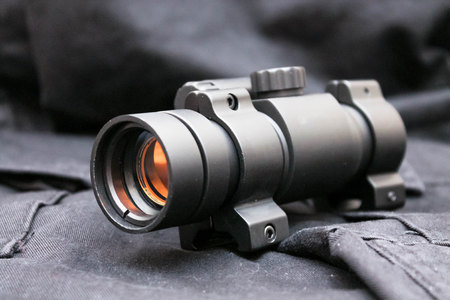 gunsight: Sight for military special purpose. Military ammunition. Military. Attack.