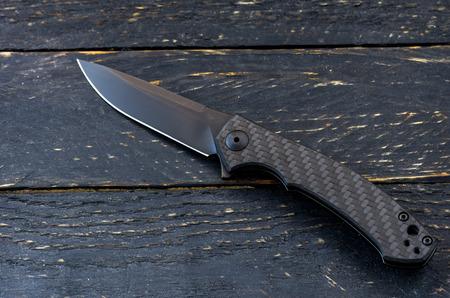Elegant handsome knife in black.